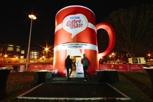 coffee mate - will study for coffee popup event